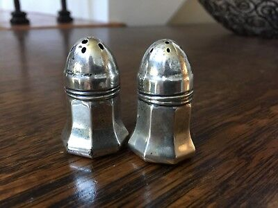 Pair Weidlich Salt and Pepper Shakers Tiny 1 Flawed 7730 Sterling