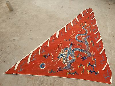 Antique Chinese Hand Embroidery Qing Dynasty Wall Hanging Panel 221X153cm