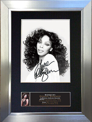 DONNA SUMMER Signed Autograph Mounted Photo Repro A4 Print 666