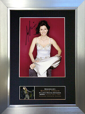 SHANIA TWAIN Signed Autograph Mounted Photo Repro A4 Print 667