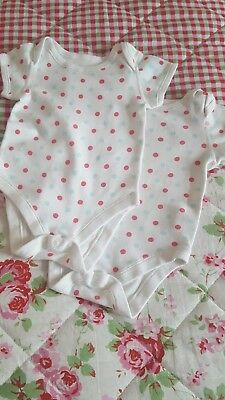 M&S baby girl 3-6 months Short Sleeve Bodysuits playsuits