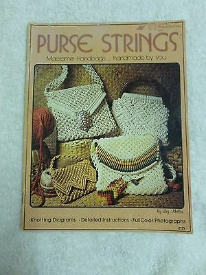 *VTG*Purse Strings Macrame Handbags ..Handmade by You By Liz Miller #6112 (1976*