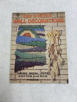 *VTG*Easy to Weave Wall Decorations using wool.jute,cotton,silk #30-16482(1977)*