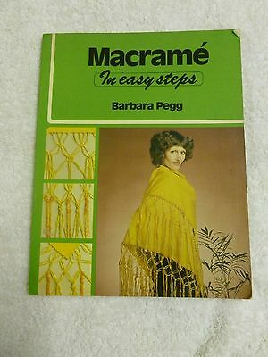 *VTG*Macrame In Easy Steos By Barbara Pegg (1977) 1st Edition*