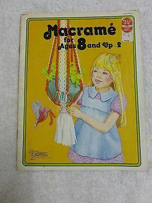 *VTG*Macrame for Ages 8 and up ...2  #905  (1978)*