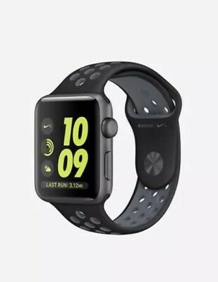 BRAND NEW Apple Watch Series 2 42mm Nike+ Aluminum Space Gray Case Black/Silver