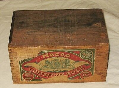 Vintage Necco Sweets Wooden Candy Box