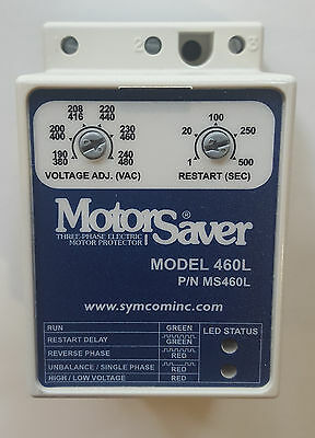 Motor Saver Model 460L 3 Phase Voltage Monitor DIN Rail Mount - New