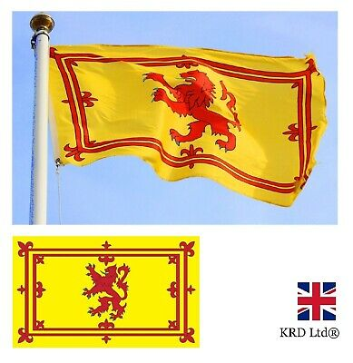 Large SCOTLAND RAMPANT RED LION FLAG Sport Scottish Supporters Fans 3 x 5FT UK