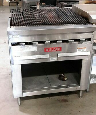 "Used 34"" Vulcan HGB34 Commercial Nat. Gas Charbroiler"