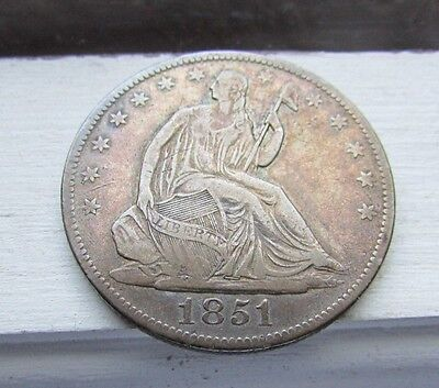 1851 New Orleans Mint 50C Seated Liberty Half-------Key Date------VF/XF