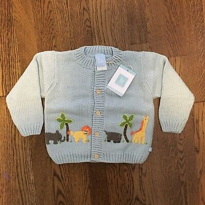 Bella Bliss Blue Zoo Theme Sweater Size 3 NWT
