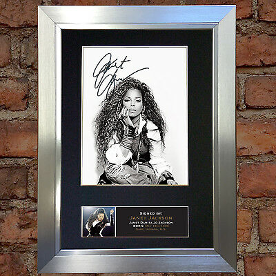 JANET JACKSON Signed Autograph Mounted Photo Repro A4 Print 670