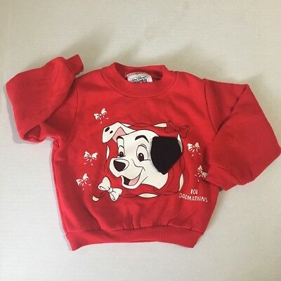 Vintage 101 Dalmatians Sweater 18 Months Red Floppy Ear Shirt Disney