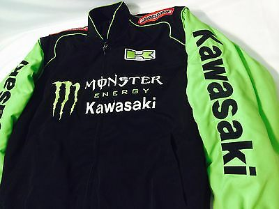 MONSTER ENERGY KAWASAKI Embroidered Jacket Size Large