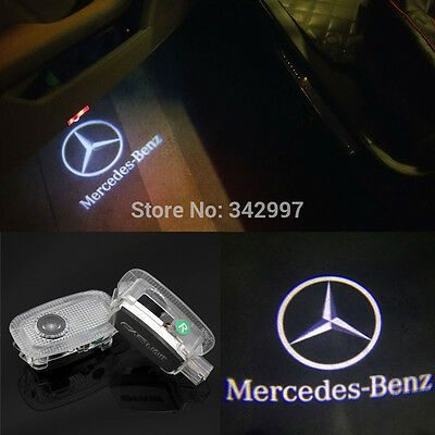 2x LED Door Step Courtesy Shadow Laser Light For Mercedes S-CLASS W221 2007-2012