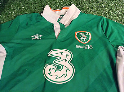republic of ireland fai football large mans 1916-2016 easter rising home jersey
