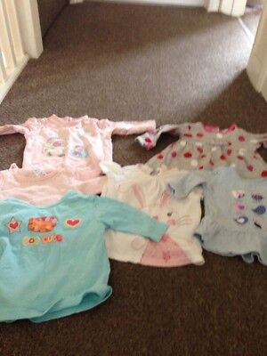 3/6 Months Girls Bundle Of Tops