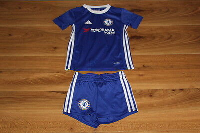 Adidas boys football top shorts outfit CHELSEA 12-18 months *I'll combine postag