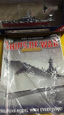 Ships Of War Collection, =Issue =23, = Uss Alabama, = Mag + Model( 1: 1000)