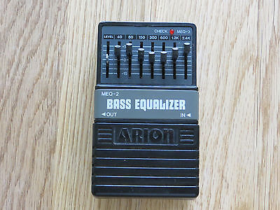 Arion MEQ-2 Bass Equalizer Effects Pedal Stomp Box