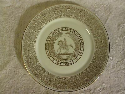 Vintage Lenox Seal Of The Confederacy White House Of The Confederacy Plate 1971