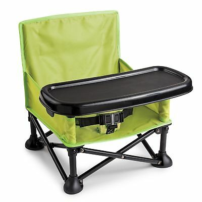 Summer Infant Pop N' Sit Portable Booster Baby High Chair Portable Folding Green