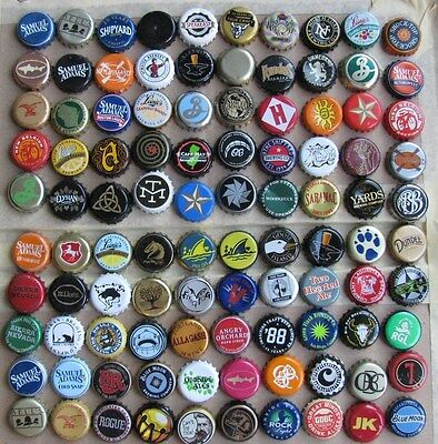 100 Different Mixed Micro Craft Beer Bottle Caps