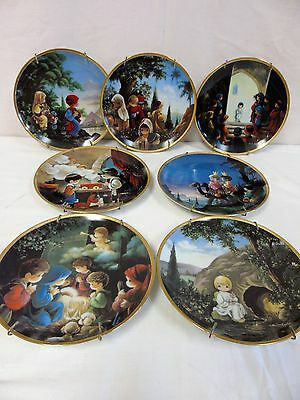 Precious Moments Bible Story Plate Collection Lot of 7