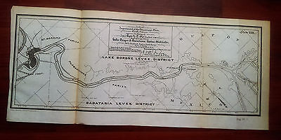 1905 Mississippi River Lake Borgne Levee District Louisiana Map