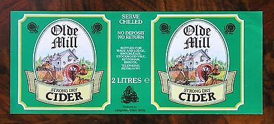 "Étiquette Cidre Royaume-Uni UK Cider Label ""Olde Mill"""