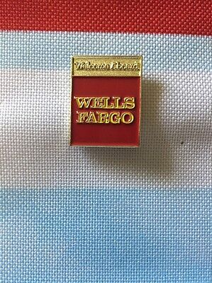 Wells Fargo  Lapel Pin Welcome Aboard Gold And Red Tone New