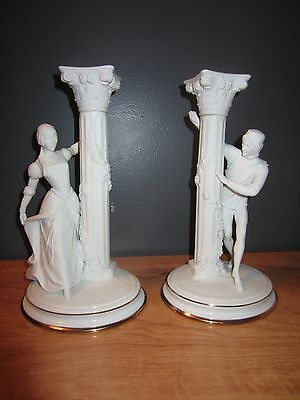 The Romeo and Juliet candlesticks by The Franklin Mint 1986