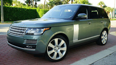 2016 Land Rover Range Rover AUTOBIOGRAPHY NAV 360 CAM REAR DVD 1-OWNER CLEAN ! ONLY 11,225 MILES FLORIDA OWNED LOADED WITH OPTIONS SUPER LOW RESERVE WOW!!!!!!!