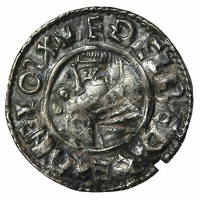 Great Britain Aethelred II 978-1016 AD AR Penny Lincoln Mint S1148 Medieval Coin