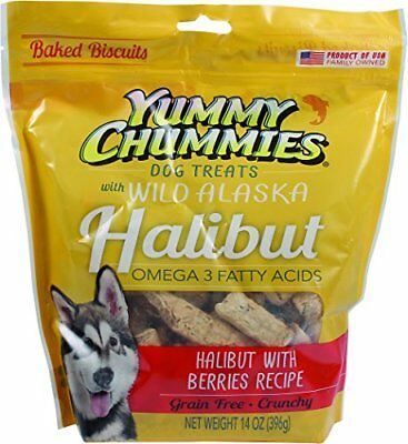 Yummy Chummies Grain Free Wild Alaska Halibut And Berry Biscuits