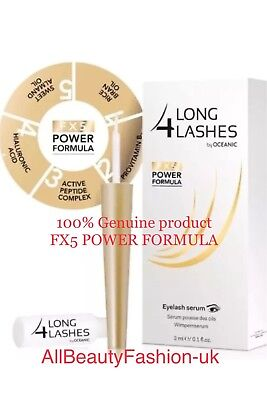 NEW! LONG 4 LASHES FX5 POWER FORMULA EYELASH GROWTH 3ml Special Offer