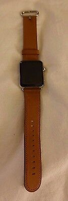 Apple Watch Series 2 42mm Stainless Steel Case Saddle Brown Classic Buckle