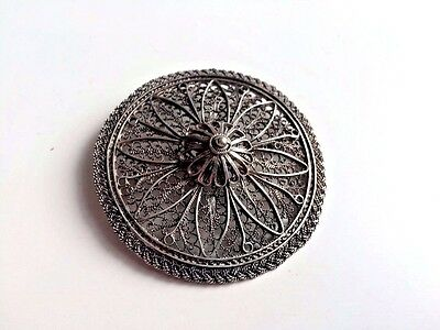Russia Empire Brooch Solid silver 84 workmaster Faberge.