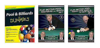 New Pool and Billiards Instructional Book and DVDs - Free Shipping