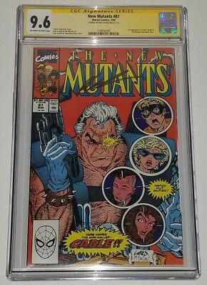 New Mutants 87 1st Appearance of Cable CGC 9.6 SS Signature Signed Rob Liefeld