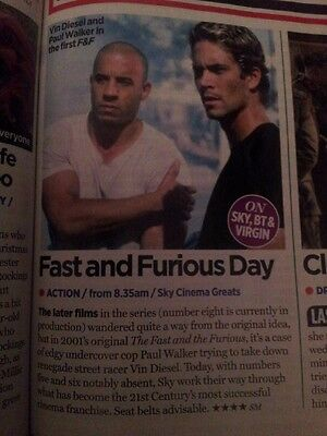Fast And Furious Cutting (Christmas TV Times 17.12.16)