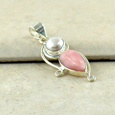 NEW Pink Coral Solid 925 Sterling Silver Pendant Jewelry Designer Great Gift