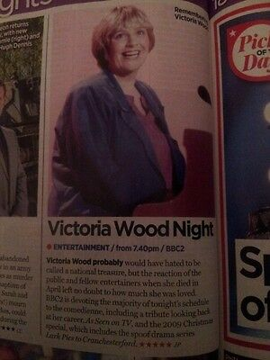 Victoria Wood Cutting (Christmas TV Times 17.12.16)