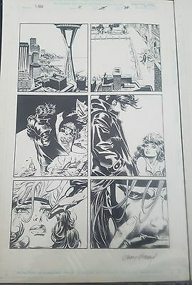 Andy Kubert Original Art - X-MEN #45 p36 - Rogue & Gambit -- Rare