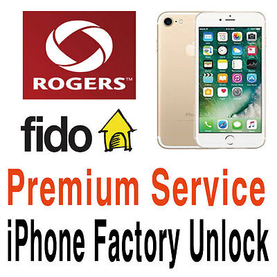 Rogers Fido Unlock Service iPhone 8 8+ 7 7+ 6S 6S+ SE 6 6+ 5S 5C 5 Plus Express