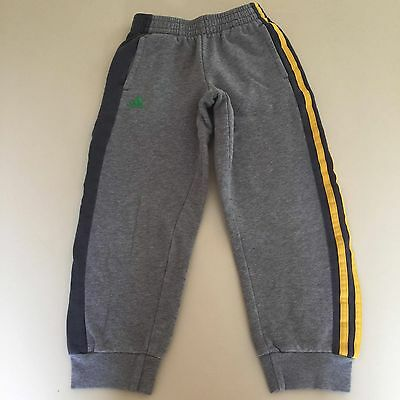 Adidas Boy's AWESOME GREY Striped SWEATPANTS Size 6-7 NEW!! Very Cool!!