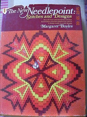 The New Needlepoint: Stitches and Designs, Margaret Boyles HB First Ed.