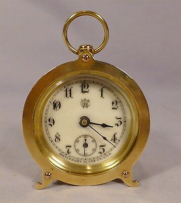 Antique Round Cylinder Mini Carriage Clock-Serviced- Best One Ever-BEST OFFER-