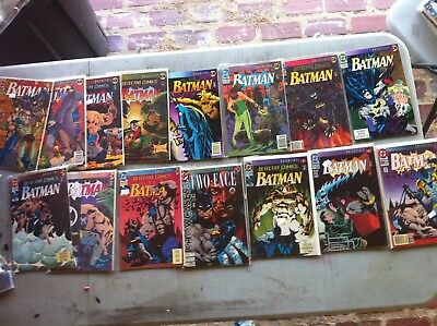 Lot of Batman Knightfall Knight Quest Knight End Comics
